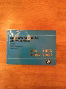 1983? BMW Riders Manual R100-R100RS-R100CS-R100RT