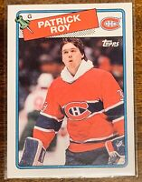 PATRICK ROY 1988-89 TOPPS CARD - CANADIENS- MINT.