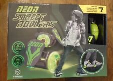 Green Neon Street Rollers - Light Up Wheels - Fits Shoe - New In Box