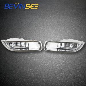Fog Light Lamp Lens Kit For Toyota Corolla CE LE S Sedan 4-Door 1.8L 2003 2004