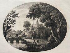Saint Paul church yard London 1780 Carrington Bowles Chaise pafsing te bridge