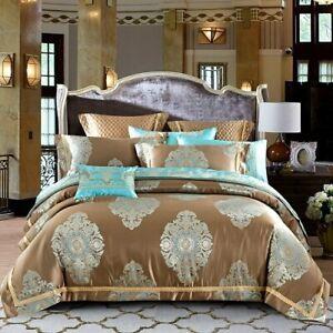Royal Bedding Set Bed/Flat Sheet Bed Spread Set Pillowcase Queen King Bed Set