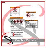 FUNNY WARNING STICKER UTV SIDE BY SIDE OFFROAD BUGGY MUD BOG TRAIL 4X4 DECAL 669