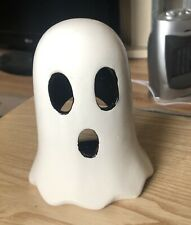 Halloween Ceramic Spooky Ghost Tea Light Candle Holder