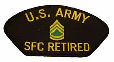 US ARMY SFC SERGEANT FIRST CLASS RETIRED E-7 RANK PATCH SOLDIER FOR LIFE