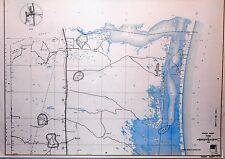 Old Original Kenedy County Texas Highway Dept Map 1960 Sarita Mifflin Oil Fields