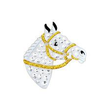 NEW Navika White Horse Swarovski Crystals Golf Ball Marker with Hat Clip