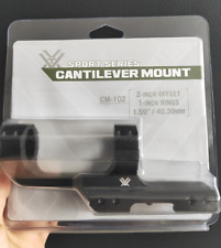 Vortex Sport Series Cantilever Mount Black #CM-102,2 inch Offset 1'' Rings Scope