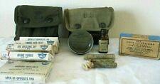 Mixed Lot Vintage Military First Aid Kits,Supplies Sunburn Paste Swabs Carlisle