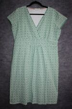 Boden Casual Jersey Wrap Dress US 14R Cotton Knit Chalky Green Mosaic