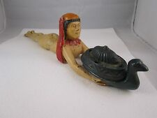 ANTIQUE ART NOUVEAU - RONSON METAL WORKS - EGYPTIAN CLEOPATRA INCENSE BURNER