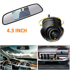 "US-360° Front/Sides/Rear Reverse Parking HD Camera + 4.3"" LCD Car Mirror Monitor"