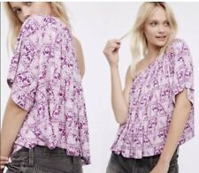 Free People Small Ocean Avenue One Shoulder Cropped Top Printed Size S NEW