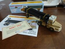 DINKY TOYS, camion UNIC SAHARIEN truck pipe-line, dinky atlas ref 893