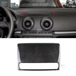 Carbon Fiber Console Navigation Screen Panel Cover Trim For Audi A3 S3 14-18