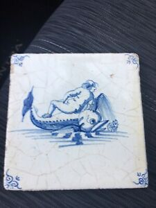Delft Tile Early Seamonsters