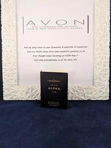 Brand New Men's Avon Alpha For Him EDT 1.5ml Sample Spray FREE P&P