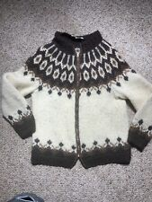 Icelandic Wool Mohair? Cashmere? Zipper Cardigan Sweater Jacket Handknit
