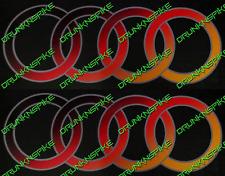 Anillos de superposición de bandera alemana Audi Lado Falda/Puerta Pegatinas Calcomanías X2 VAG