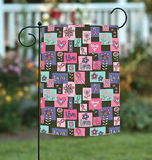 New Toland - Live Love Laugh Forever - Pink Ribbon Support Cancer Garden Flag