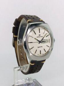Vintage Hamilton Quartz Watch -7 Jewel 9362 Mvmt - Linen Dial - New Battery!
