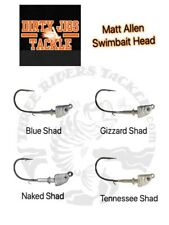 Dirty Jigs - Matt Allen Tactical Bassin' Swimbait Heads - Choose Size / Color
