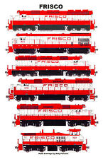 "Frisco Locomotives 11""x17"" Railroad Poster Andy Fletcher signed"