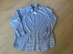 NWT Banana Republic Men's Dress Shirt Non-Iron Slim Fit Blue Rare Size Tall XXL
