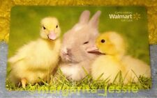 WALMART CANADA GIFT CARD EASTER BUNNY AND BABY CHICKS NO VALUE COLLECTIBLE NEW