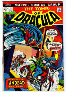 THE TOMB OF DRACULA #11 in VG condition a 1973 Marvel Bronze Age horror comic