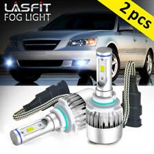 LED LOW Beam Headlight 9006 Bulbs for Hyundai Enrourage 07-10 Sonata 02-05 White