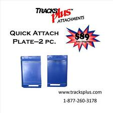 """Quick Attach Plate 2pc 1/4"""" for Skid Steer Loaders"""