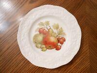 "Vtg MASON'S Ironstone England Fruit Center Embossed Oak Leaf Rim 8"" Salad Plate"