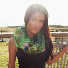 Sly Peacock infinity continuous loop circular scarf