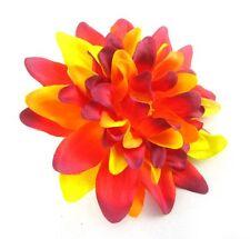 "2 Artificial Silk Red Dahlia Flower Head piece 4"" Bulk Bridal Wedding pick decor"