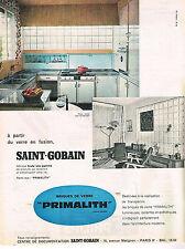 PUBLICITE ADVERTISING  1960   SAINT-GOBAIN   briques de verre PRIMATLITH