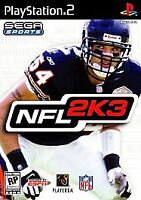 PS 2 NFL 2K3 Football (PS2 New Playstation 2) BRAND NEW SEALED 2002 Sony Sports