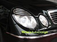 4 PCS BLACK HEAD LIGHT LAMP RIMS SET FOR 2002-2006 MERCEDES BENZ W211 E-CLASS