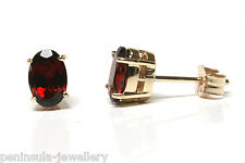 9ct Gold Garnet Earrings Studs Made in UK Gift Boxed Made in UK Christmas Xmas
