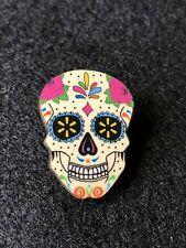 Rare Walmart Lapel Pin Halloween Day of Dead Skeleton Spark Pinback