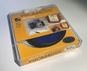 Promaster 52mm 80B 80 B Blue Color Conversion Camera Filter Made In Japan *NEW*