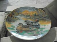 """The Green-Winged Teal"" 1987 Collector Plate, Knowles, By Bart Jerner, #1709b"