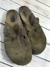 American Eagle Outfitters Size 10-11? Brown Slip On Mules Open Heel Casual Wear