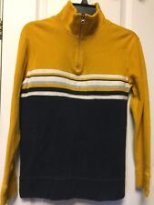 Canyon River Blues Boys L/S Color Block Mock Turtleneck 1/4 Zip Sweatshirt M