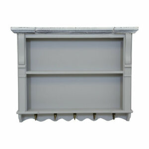 Charles Bentley Grey Loxley Kitchen Wall Shelving Display Unit Dresser Top