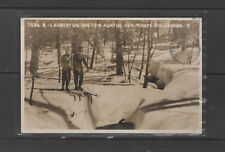 POST CARD real photo Cross Country Skiing St Agathe des Monts PQ Canada 1948