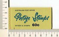 41138) Australia 1966 MNH QEII 4c (x15) n.385 Booklet Sg B39E -imperf L & R