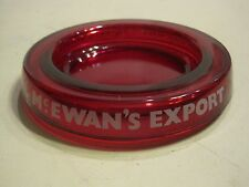 McEwans Export Lager beer red glass coin dish tray