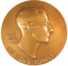 Music composer MAURICE RAVEL bronze 81mm by Poisson