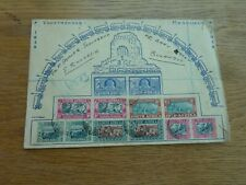 """1938 SOUTH AFRICA VOORTREKKER ANNIVERSARY STAMP COVER 9 X 6"""""""